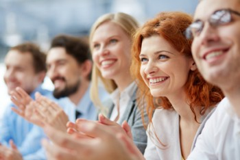 public speaking tips - happy audience